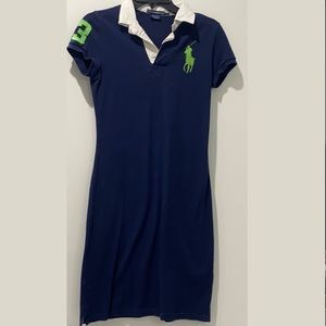 Ralph Lauren Sport Dress Navy/Green Large Logo